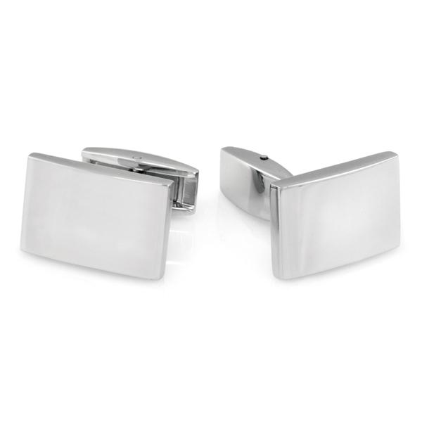 Round Filigree Cufflinks Stainless Steel with Presentation Box