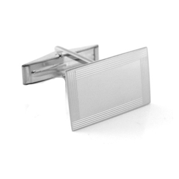 white gold frame engraved cufflinks
