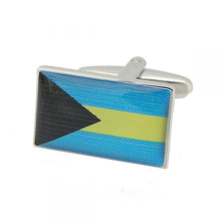 Bahamas Flag Cufflinks