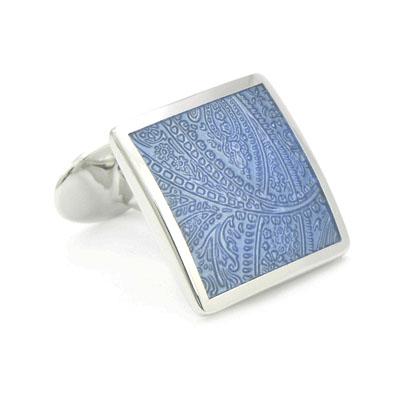 David Donahue Sterling Paisley Cufflinks Light Blue H95029802