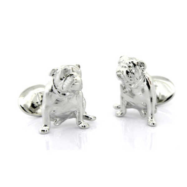 Sterling Bulldog Cufflinks By David Donahue Cufflinks Depot