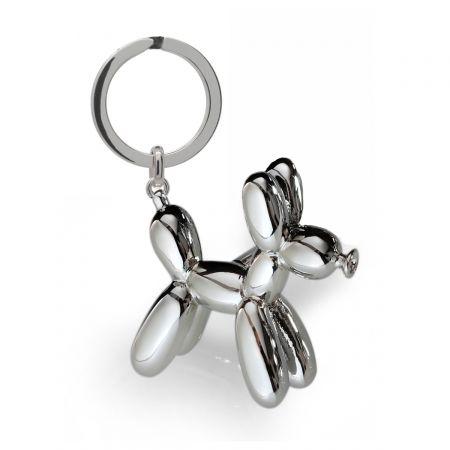 Silver Balloon Dog Design Cufflinks in Personalised Cufflink Box